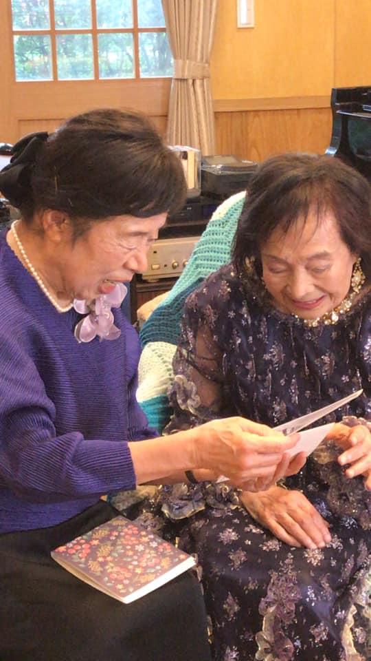 室井摩耶子先生と川崎紫明